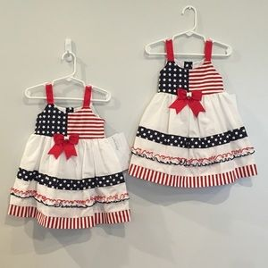 NWT Matching 18mo 4th of July Dresses